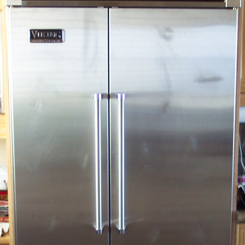 Before-Stainless Steel Fridge Repair