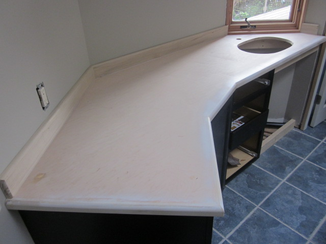 Before-Wood Countertop