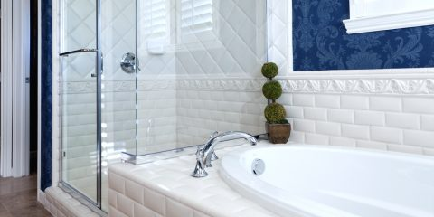 bathroom bathtub shower tiles white refinish refinishing resurface