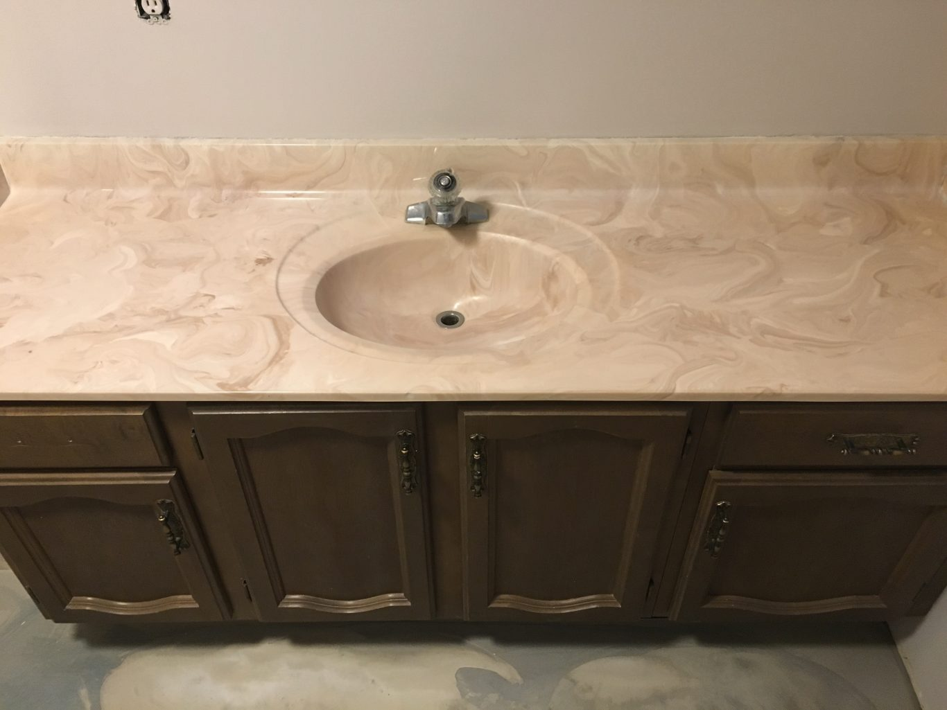 Before-Cultured Marble Vanity Counter