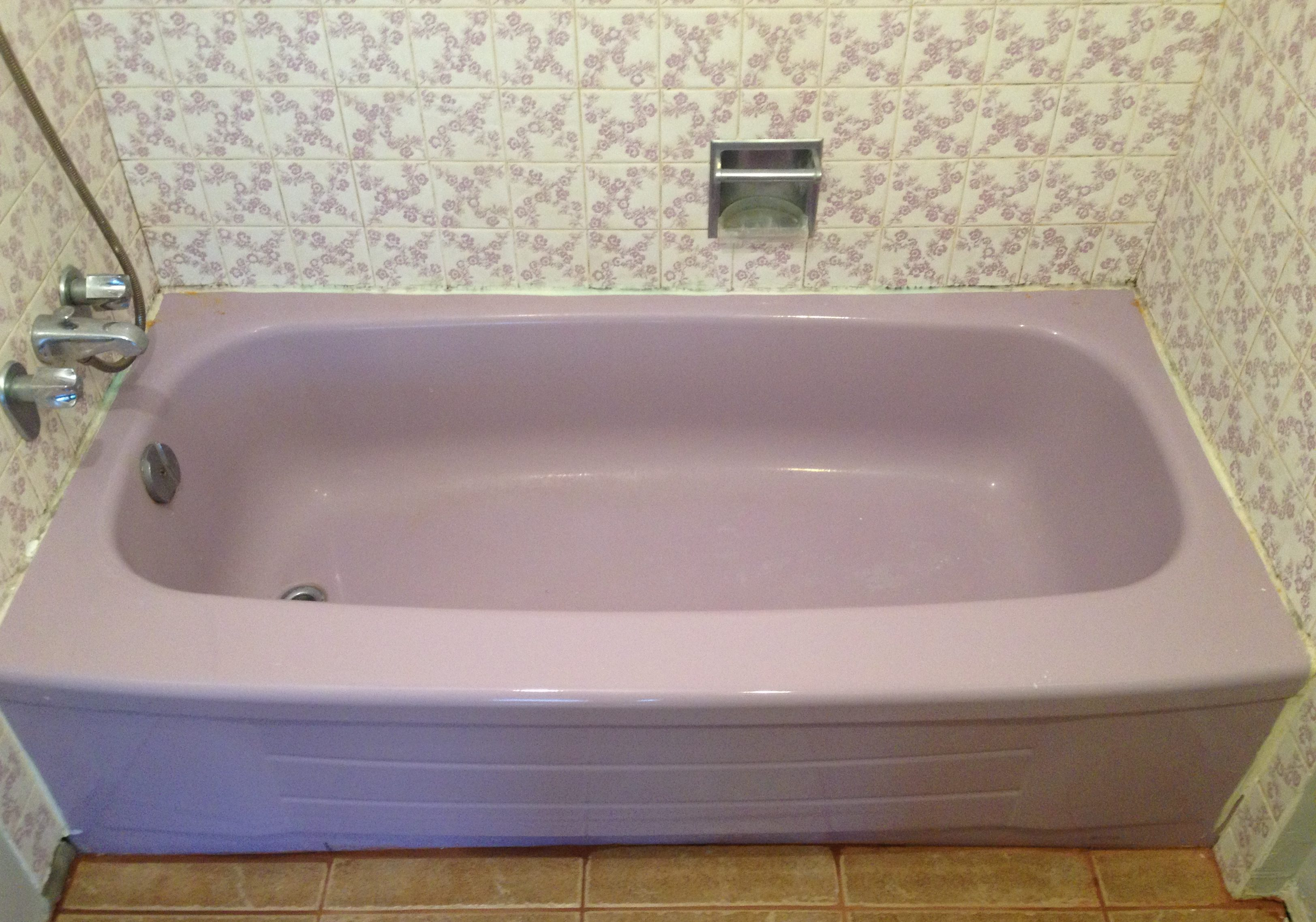 Before-Lilac Bathtub