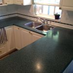 Dark Green Countertop Refinishing Before
