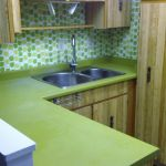 Green Countertop Refinishing Before
