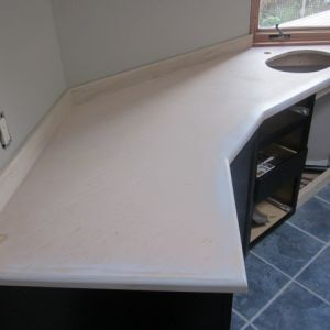 Wood Countertop Refinishing Before
