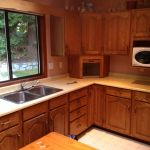 Large Kitchen Countertops Refinishing Before