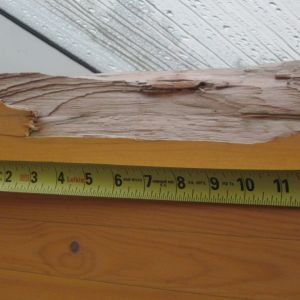 Wood Support Beam Large Chip Repair Before
